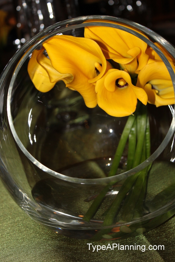 bowl of lily flowers